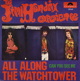 The Jimi Hendrix Experience - All Along The Watchtower - single cover sleeve promo - 1968JHE