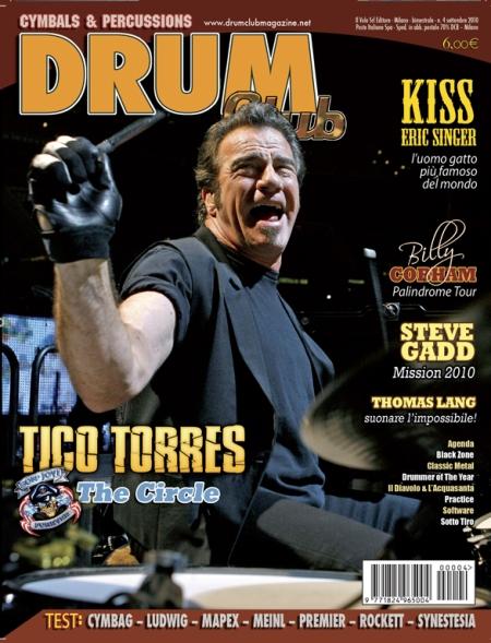 Tico Torres - Drum Club magazine - promo cover