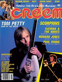 Tom Petty - Creem promo magazine cover - october 1985