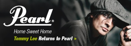 Tommy Lee - Pearl Drums - promo banner - 2011 - #48TL