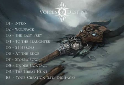 Voices Of Destiny - Crisis Cult - Track Listing - October 31 - 2014