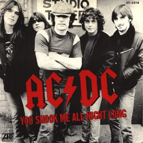"""black singles in shook Ac/dc unleashed back in black on july 25 an unknown number of """"you shook me all night long"""" singles that were pressed incorrectly made it to the public."""