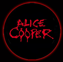 Alice Cooper - classic bloody logo - button promo pic