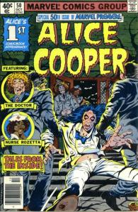 Alice Cooper - Marvel Comics - #1 - vintage comic - 1970s - #7771AC
