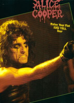 Alice Cooper - Raise Your Fist And Yell - tour program - cover promo pic - #1987