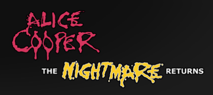 Alice Cooper - The Nightmare Returns Tour - classic logos - #1987NRAC