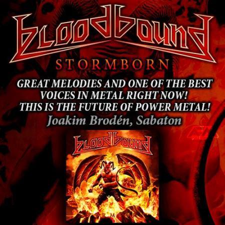 Bloodbound - Stormborn - promo album flyer - 2015 - #1776