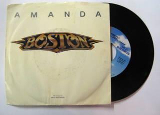 Boston - Amanda - 45rpm - single promo sleeve pic - #1986TS