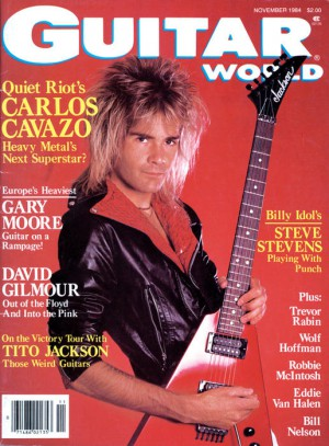 Carlos Cavazo - Quiet Riot - Guitar World - 1984 - promo cover pic