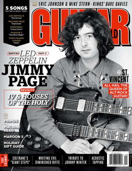 Guitar World - Jimmy Page - cover feature - December - 2014 - promo pic