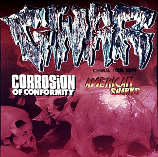 GWAR - Corrosion Of Conformity - American Sharks - promo concert flyer - November - 2014 - Tremont Music Hall - NC