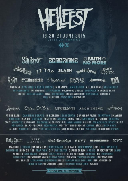 Hellfest - June - 2015 - promo flyer - #0001