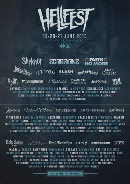 Hellfest - June - 2015 - promo flyer - #0001