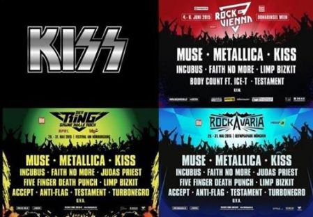 Kiss - Metal Festivals - 2015 - promo flyer - #1110