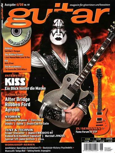 KISS - Tommy Thayer - Guitar magazine cover promo - #44777