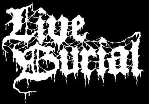 Live Burial - band logo - B&W - large - 2013