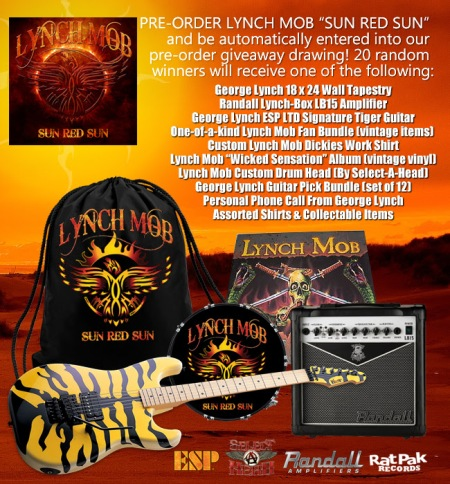 Lynch Mob - Sun Red Sun - pre-order - promo flyer - giveaway drawing - 2014