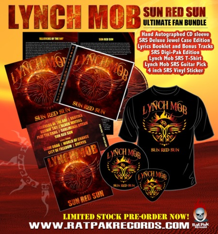 Lynch Mob - Sun Red Sun - ultimate fan bundle - promo flyer - 2014
