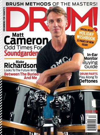 Matt Cameron - Drum! - promo magazine cover - issue 198