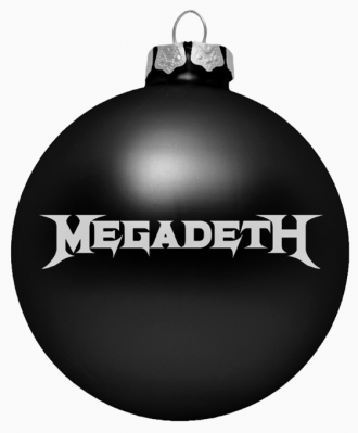 Megadeth - Holiday Ornament - promo pic - #2014DM