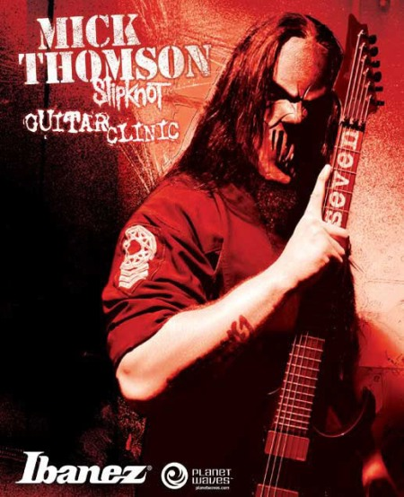 Mick Thomson - Slipknot - Ibanez guitar clinic - promo flyer - #7