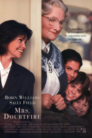 Mrs. Doubtfire - Robin Williams - promo movie poster pic - #1991RW