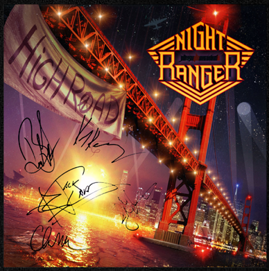 Night Ranger - High Road - Autographed - promo cover pic - #2014NR