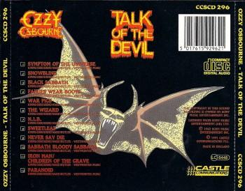 Ozzy Osbourne - Talk Of The Devil - CD back cover - promo pic - #6671127