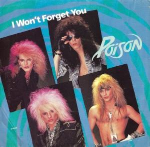 Poison - I wont forget you - promo single sleeve - cover promo - #1987