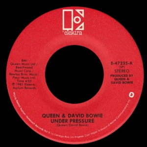 Queen and David Bowie - Under Pressure - promo 45rpm - vinyl single - #1981