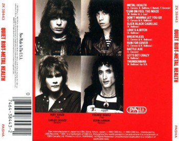 Quiet Riot - Metal Health - back cover - CD - promo pic - #2014KDFB