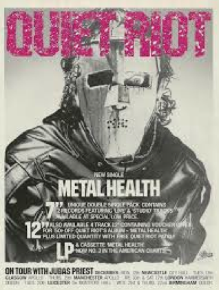 Quiet Riot - promo flyer - UK - 1983 - Metal Health - tour dates