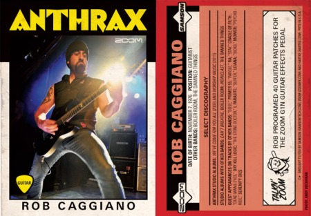 Rob Caggiano - Anthrax - Big Four - Revolver Trading Card - 2011