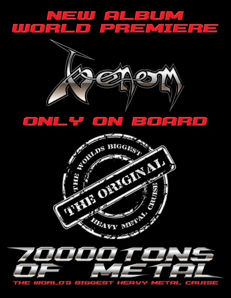Venom - New Album World Premiere - 70000Tons Of Metal - promo flyer - 2015 - #33