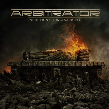 Arbitrator - Indoctrination Of Sacrilege - promo cover pic - 2014