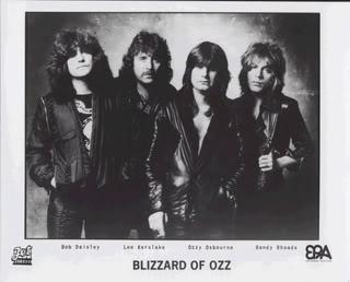 Blizzard Of Oz - promo band card - circa 1980 - Ozzy Osbourne