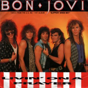 Bon Jovi - Livin' On A Prayer - 45rpm - single cover sleeve - #1986JBJ