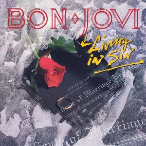 Bon Jovi - Living In Sin - 45rpm promo cover sleeve - #1989BJ