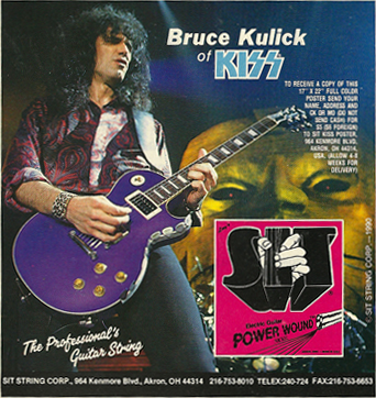 Bruce Kulick - Kiss - SIT guitar strings - promo flyer - #1987