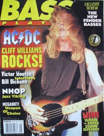 Cliff Williams - ACDC - bass player magazine - promo cover - May 1996