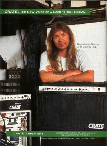 Dave Murray - Crate Amplifiers - promo ad - iron maiden