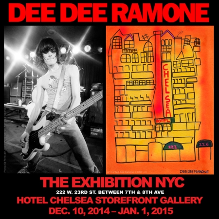 Dee Dee Ramone - The Exhibition NYC - Dec - Jan - 2015 - Ramones