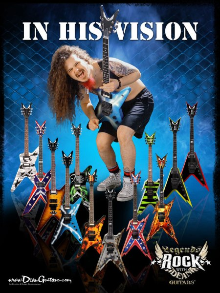Dimebag Darrell - Dean Guitars Advertisement - #1966DD