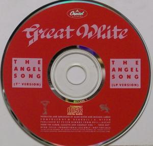 Great White - The Angel Song - promo CD single photo - #1989GWTI