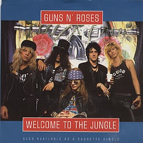 Guns N Roses - Welcome To The Jungle - promo 45rpm single cover sleeve - #1988AR