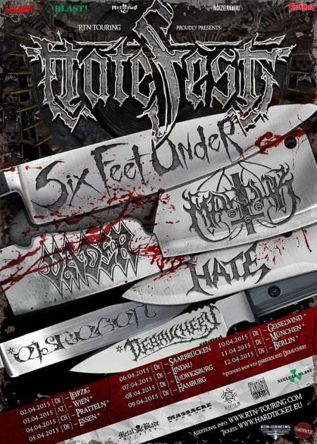 Hatefest - 2015 - promo tour flyer - Six Feet Under - Vader - #2015MMB