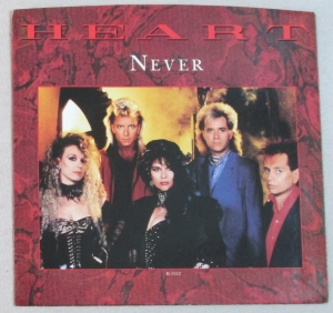 Heart - Never - promo single sleeve pic - #1985NW