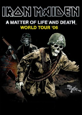 Iron Maiden - A Matter Of Life And Death - promo tour book cover - #2006SHBD