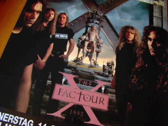Iron Maiden - The X Factour - promo band flyer - #1995BBSH