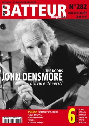 John Densmore - Batteur Magazine - promo cover pic - 2014 - #282